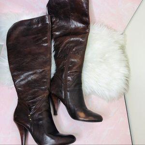 Chocolate brown OTK Boots